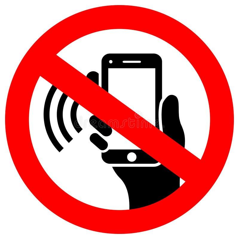 No phone using vector sign royalty free illustration