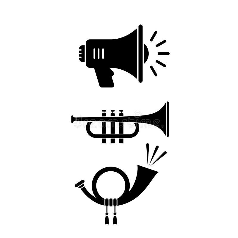 Sound horn vector icon vector illustration