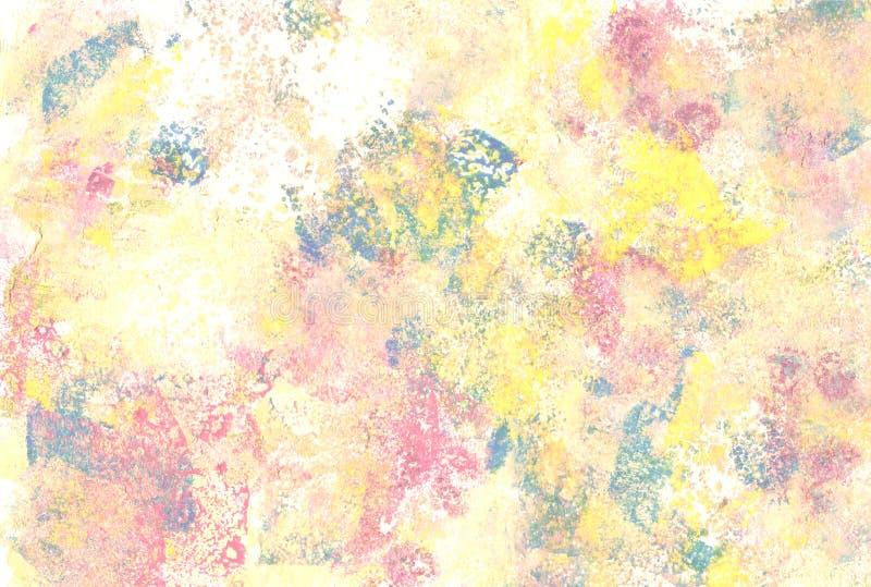 Untos abstractos coloreados pastel de la pintura fotografía de archivo