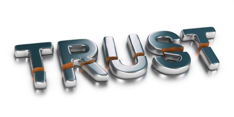 Untrust, brak zaufanie royalty ilustracja