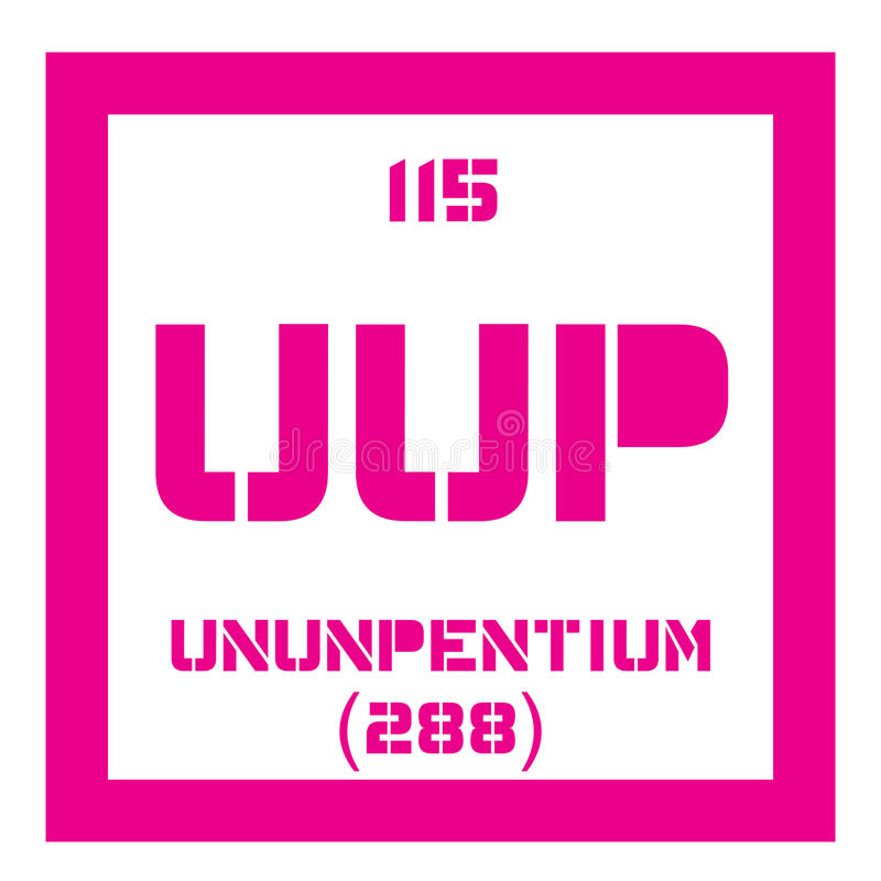 Ununpentium chemisch element royalty-vrije illustratie