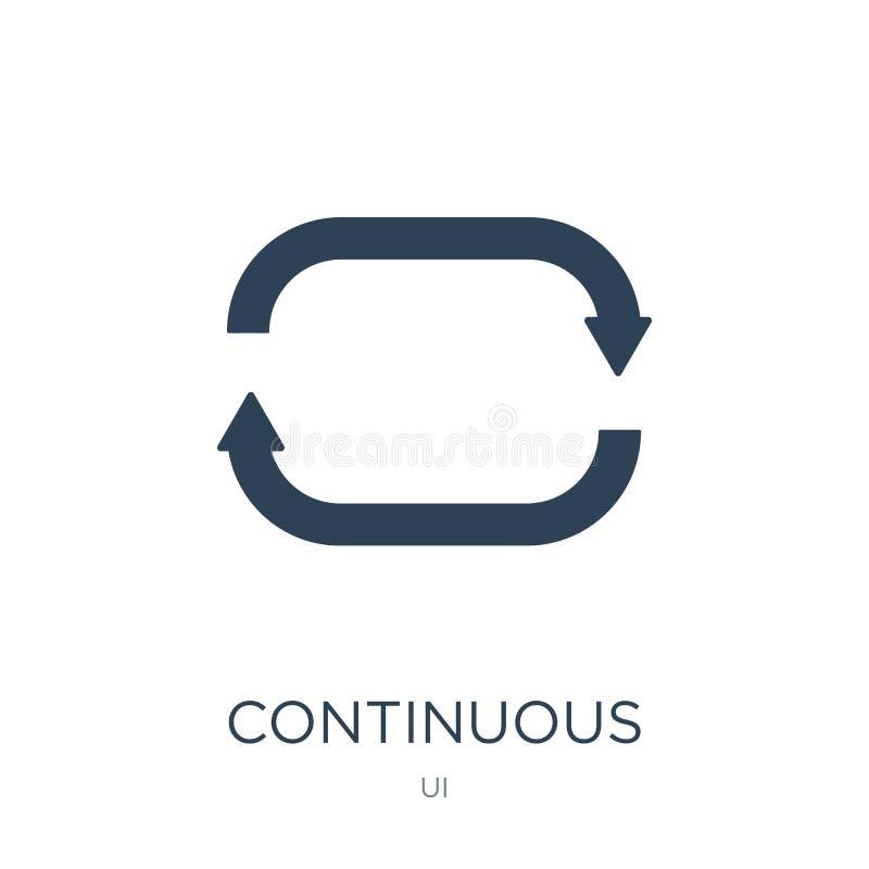 ununterbrochene Ikone in der modischen Entwurfsart ununterbrochene Ikone lokalisiert auf weißem Hintergrund ununterbrochene Vekto lizenzfreie abbildung