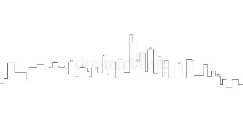 Ununterbrochene Linie Skyline von Manhattan lizenzfreie abbildung