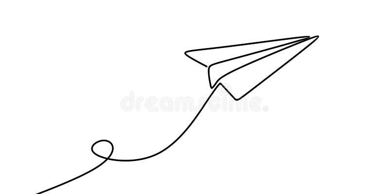 Ununterbrochenes Federzeichnung der Papierillustration des flachen Vektors stock abbildung