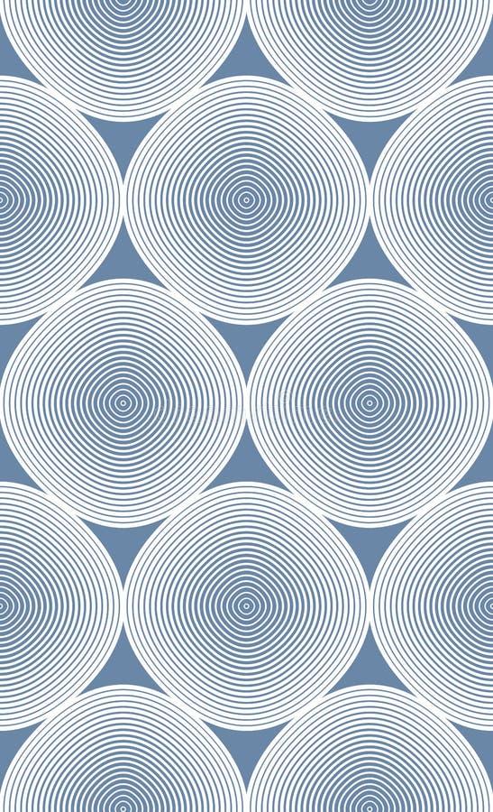 Ununterbrochenes Vektormuster mit grafischen Linien, dekoratives abstrac lizenzfreie abbildung