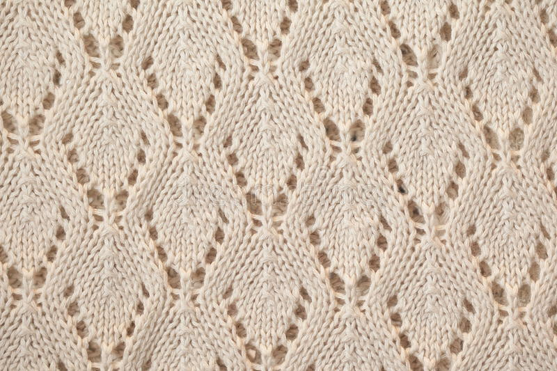 Unusual Abstract knitted pattern background texture. Unusual Abstract handmade white knitted pattern background texture stock photo
