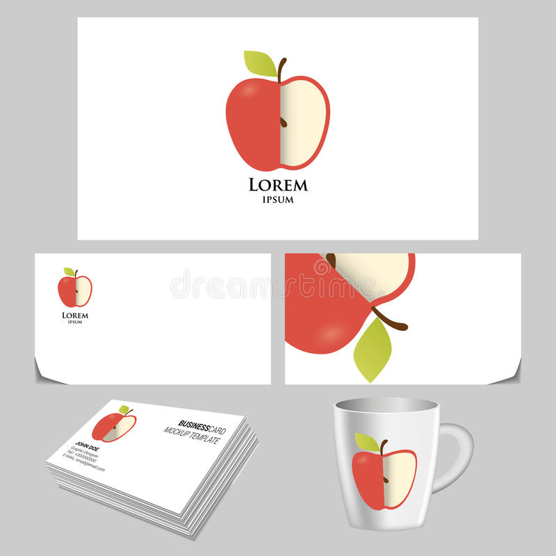 Unusual apple logo stock illustration. Illustration of vector - 66521274