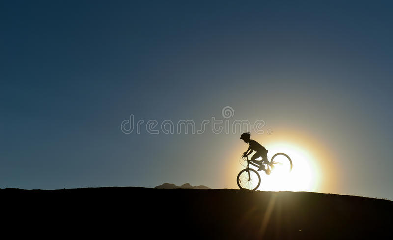 Unusual bicycle use royalty free stock image