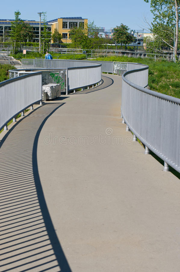 Download Unusual bridge stock image. Image of road, sunny, winding - 23954495