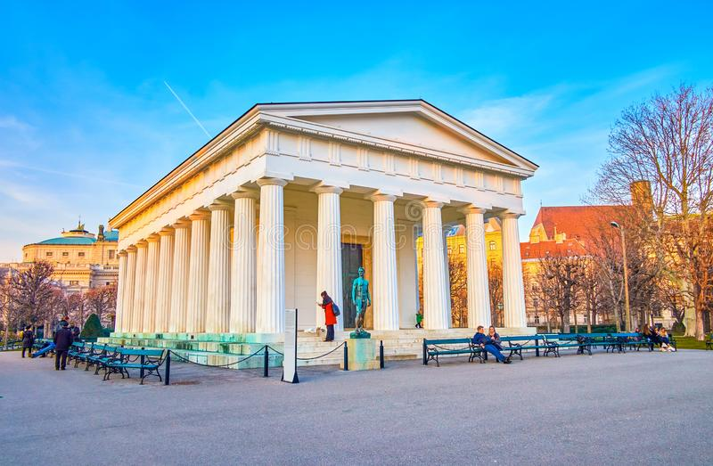 The unusual building in Volksgarten, Vienna, Austria stock photo