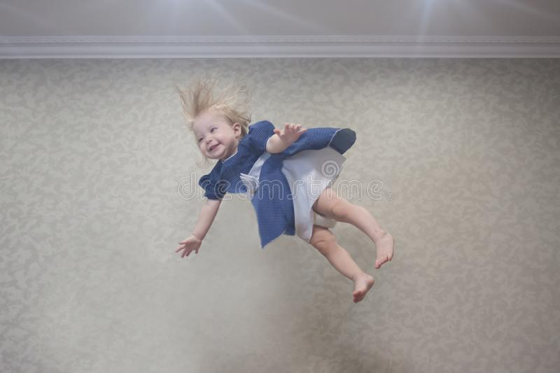 Unusual child. talents and supper. Abilities of a small child. indigo child royalty free stock photography