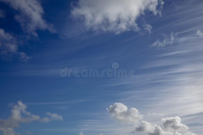 Unusual clouds and blue skies 3068 stock images