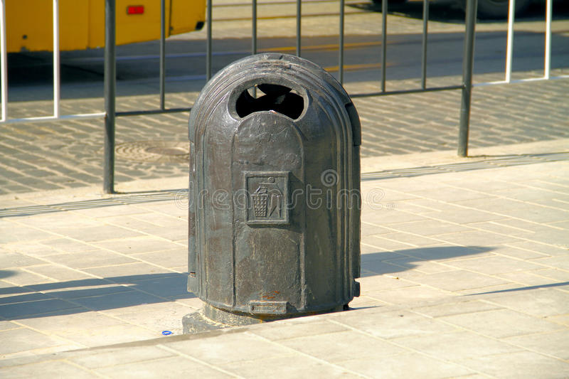 Download Unusual Dustbin Standing On The Road Stock Photo - Image: 83722531