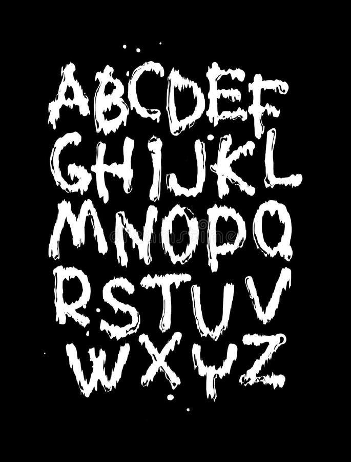 Unusual font stock illustration