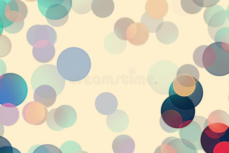 Fun multi-colored circles on a light background royalty free illustration