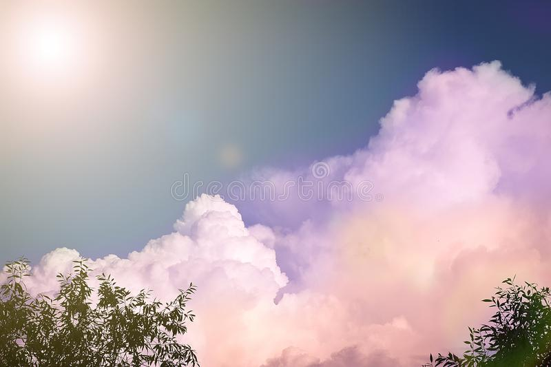 Unusual multi-colored clouds against the sky. Natural background royalty free stock images