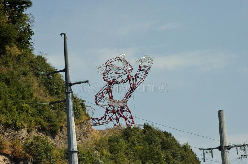 Unusual Support Of Power Lines In The Form Of The Olympic Tiger ...