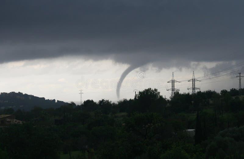 Tornado in palma de mallorca royalty free stock photography