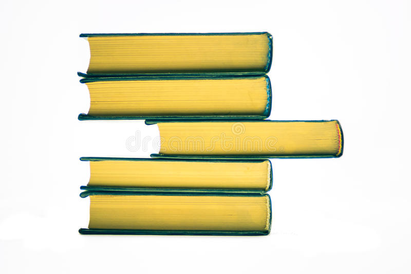 An unusually large volume of the book create more abstract shape stock photos