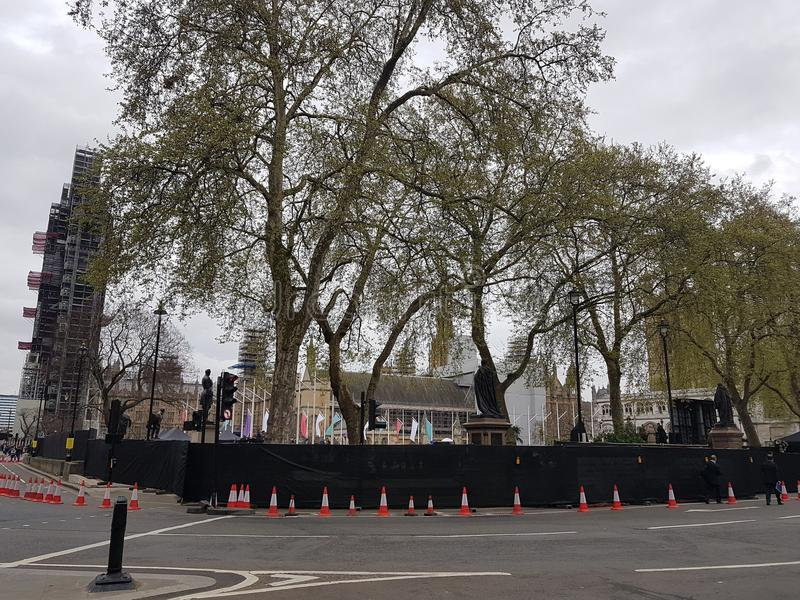 The unveiling of suffragist`s statue in Parliament Square, London. Statue of suffragist campaigner Millicent Fawcett, created by Turner Prize winner Gillian stock photos
