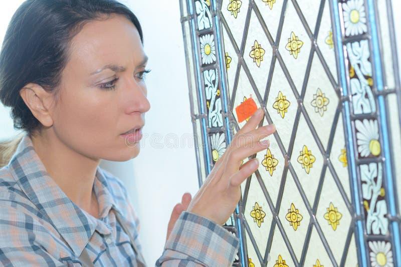 Unvollkommenheit im Glas stockbilder
