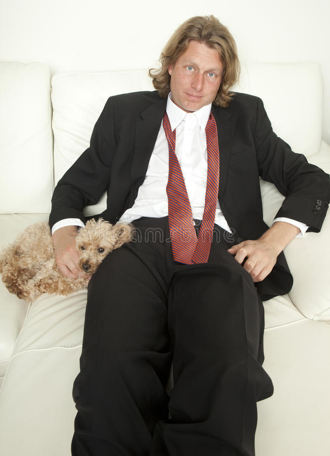 Unwinding With The Dog royalty free stock image