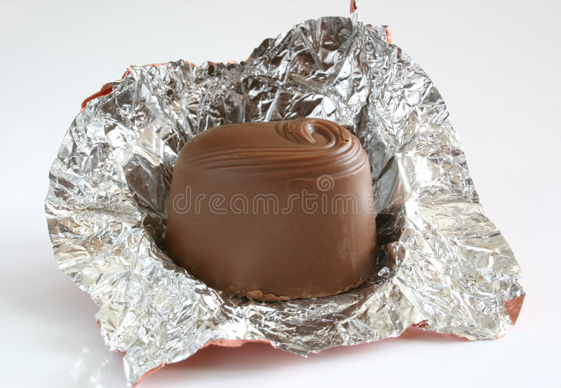 Unwrapped Chocolate Royalty Free Stock Photos