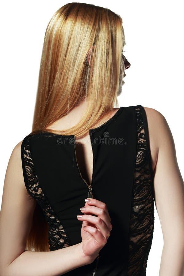 Unzipped платье стоковая фотография rf