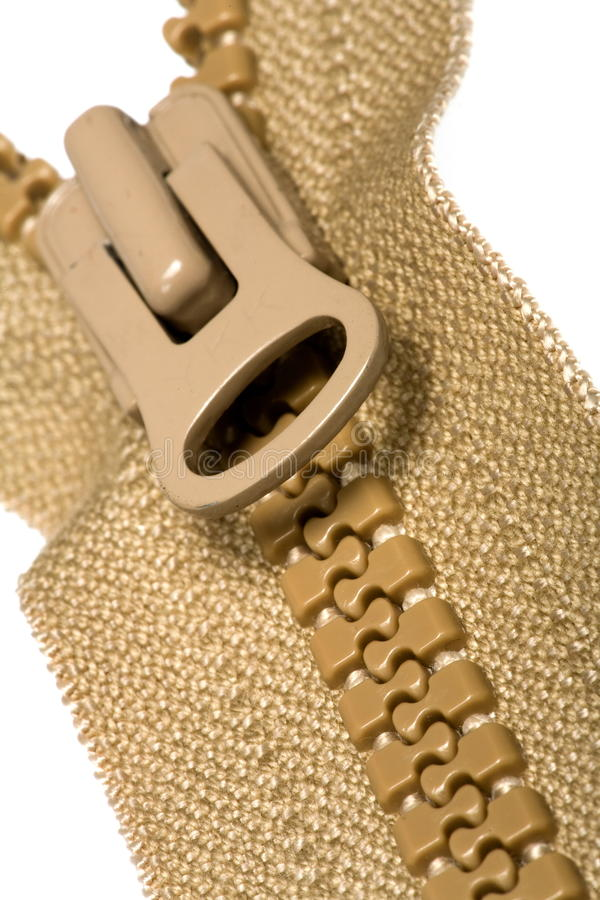 Download Unzipped brown zipper stock photo. Image of open, object - 11578932