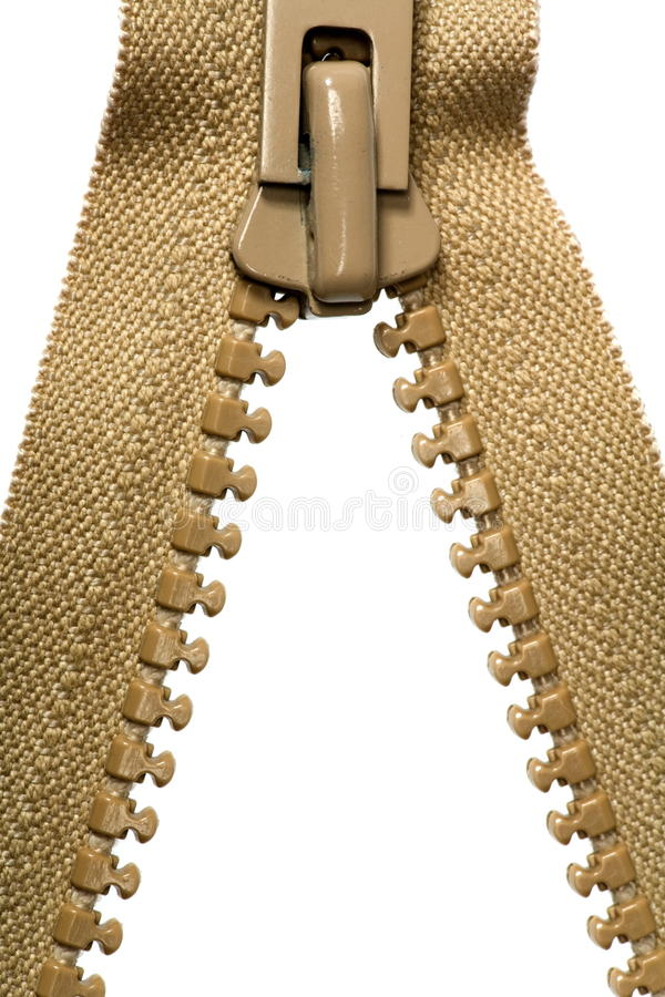 Download Unzipped brown zipper stock photo. Image of symbol, concepts - 11646888
