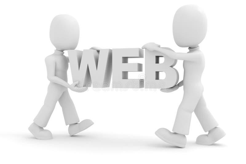 uomini 3d, trasportanti il marchio di Web royalty illustrazione gratis