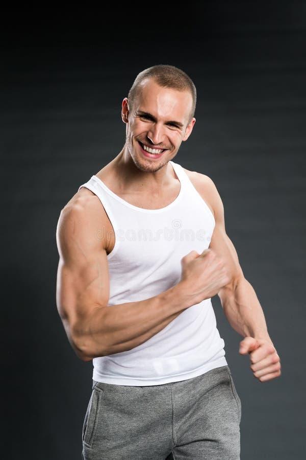 Uomini bei di forma fisica fotografia stock