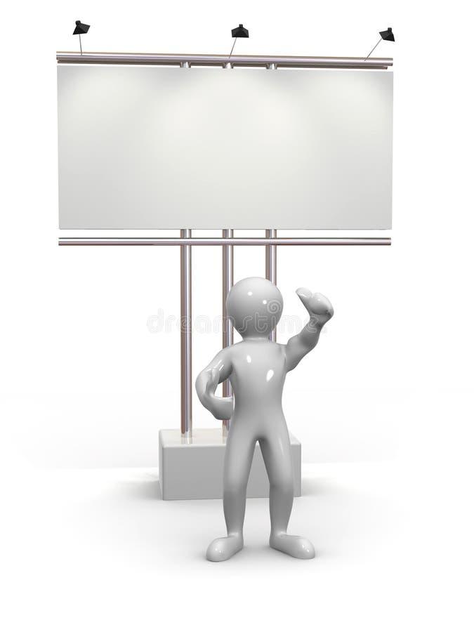 Uomini che osservano sul tabellone per le affissioni illustrazione di stock