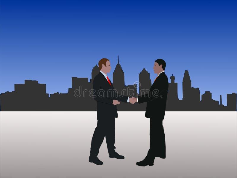 Uomini che si incontrano a Philadelphia illustrazione di stock