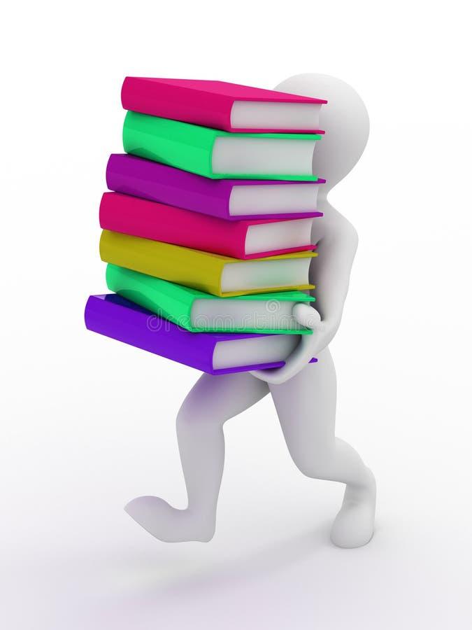 Uomini con i libri royalty illustrazione gratis