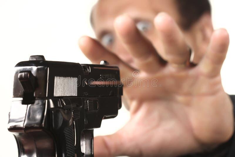 Uomini con la pistola immagini stock libere da diritti