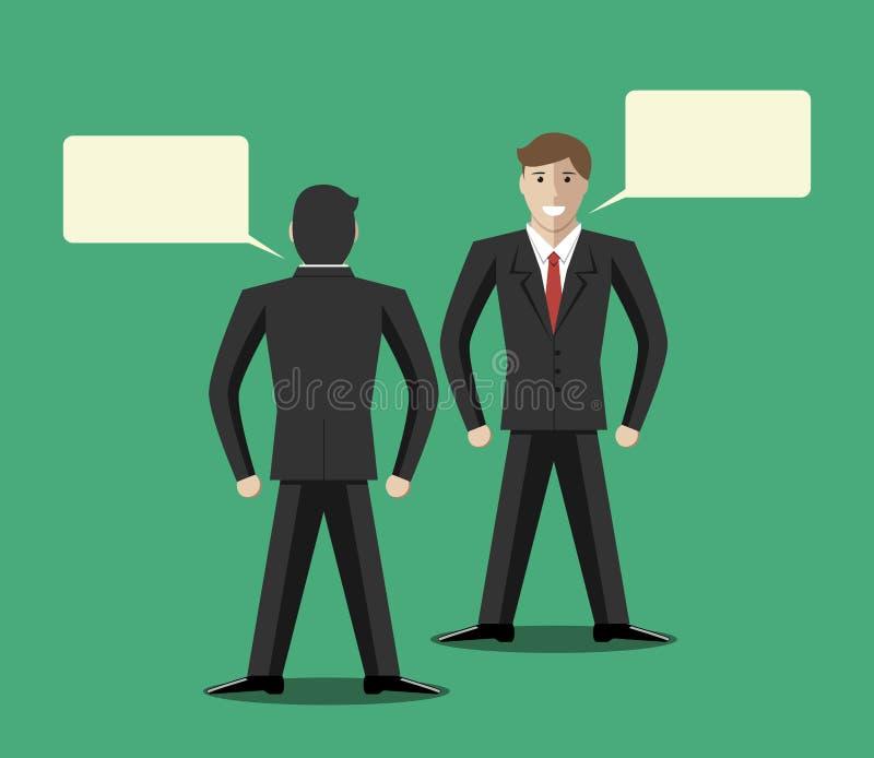 Uomini d'affari che comunicano illustrazione di stock