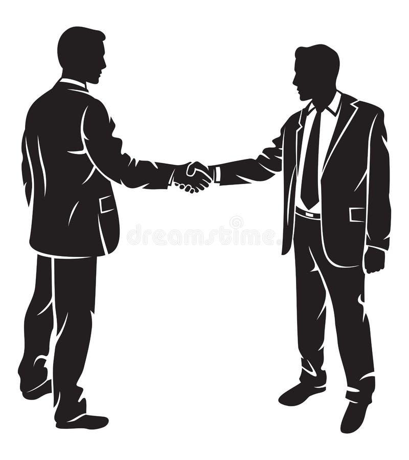 Uomini d'affari che stringono le mani royalty illustrazione gratis