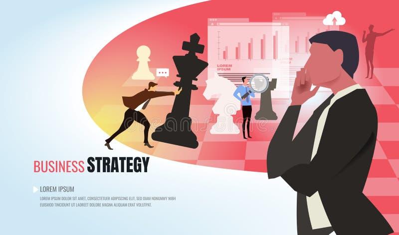 Uomini d'affari che volano con i razzi in avanti allo scopo per raggiungere successo illustrazione di stock