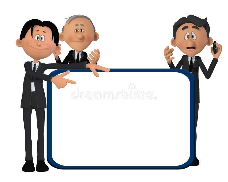 Uomini d'affari con un bordo illustrazione di stock