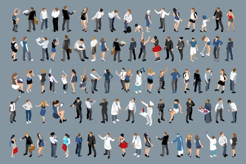Uomini d'affari ed insieme dell'ufficio delle signore di affari illustrazione di stock