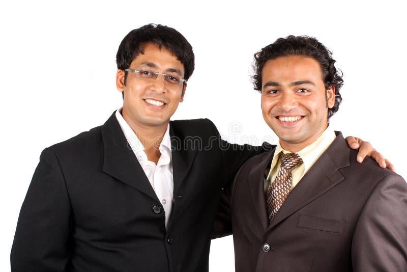 Uomini d'affari indiani felici immagine stock
