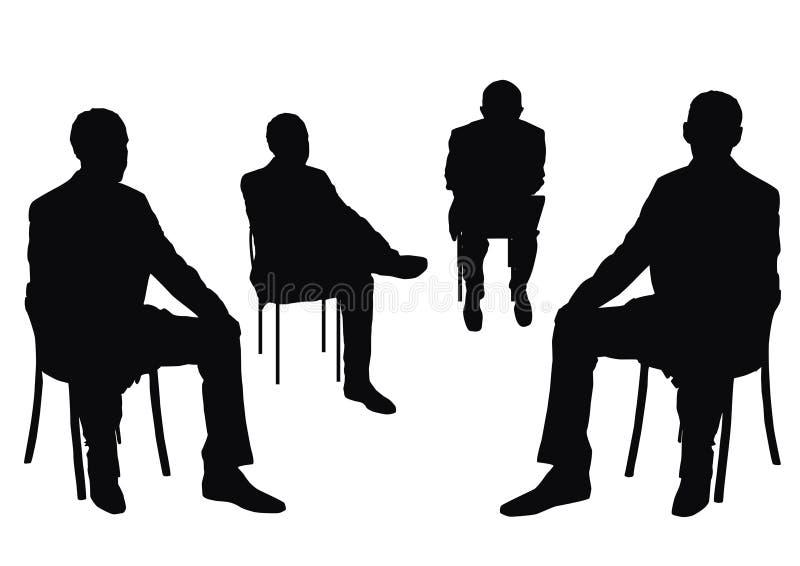 Uomini d'affari isolati royalty illustrazione gratis