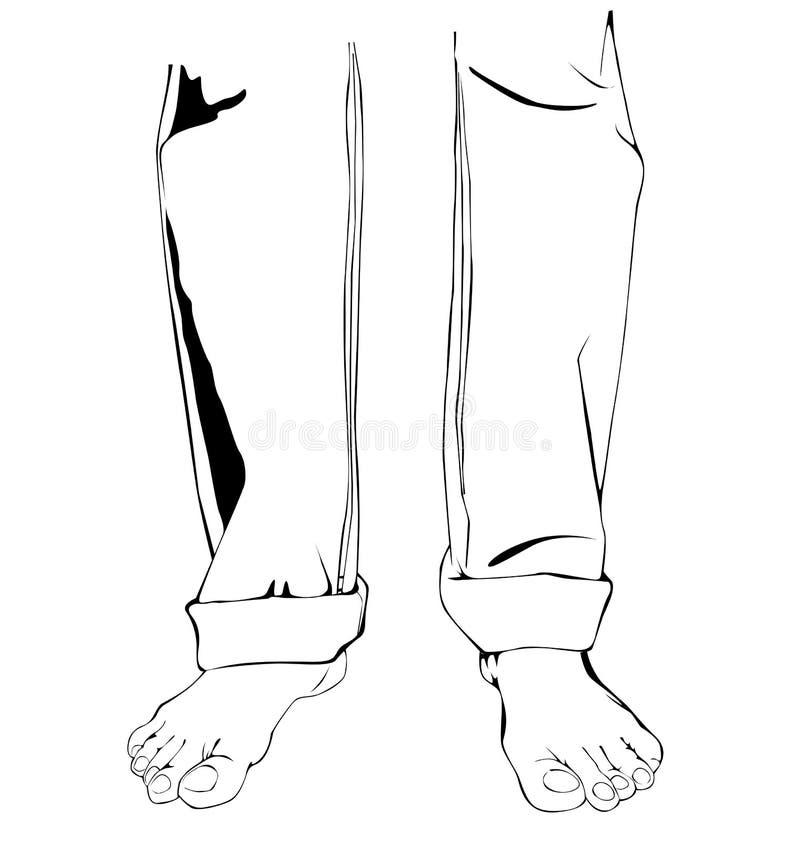 Uomini dei piedini illustrazione di stock