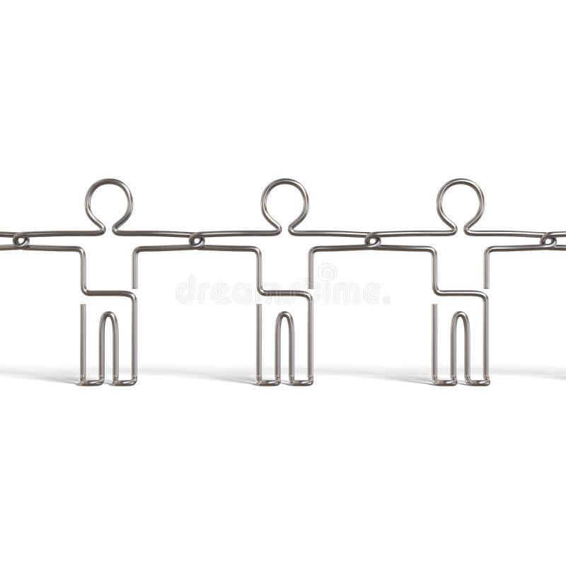 Download Uomini Del Collegare Che Tengono Le Loro Mani Illustrazione di Stock - Illustrazione di workforce, squadra: 7319766