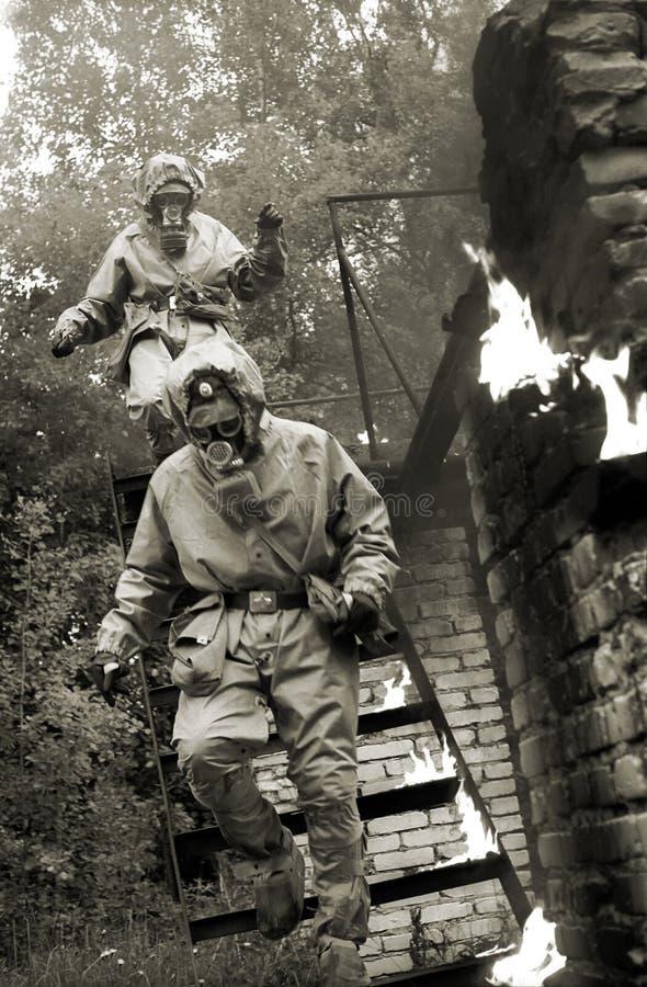 Uomini del fuoco fotografia stock libera da diritti