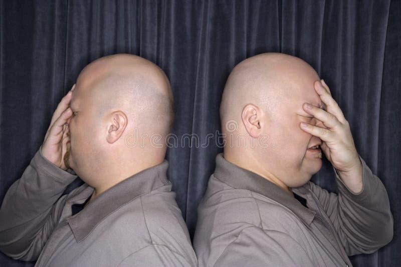 Uomini del gemello identico. fotografie stock libere da diritti