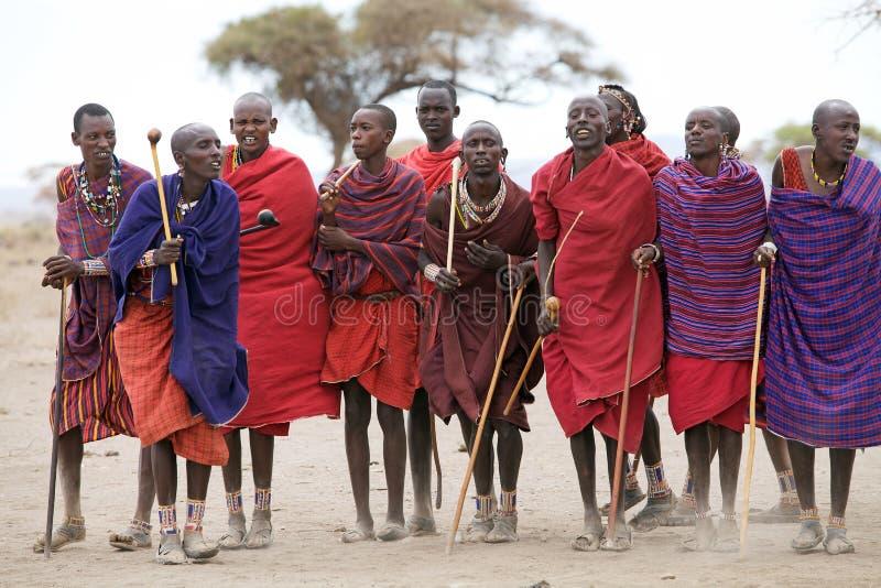 Uomini del Masai immagini stock libere da diritti
