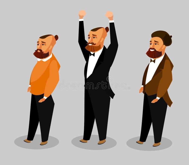 Uomini dell'insieme differente di clipart di vettore di occupazione illustrazione di stock