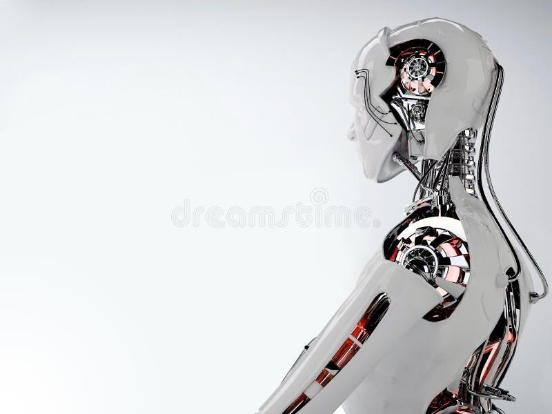 Uomini di androide del robot royalty illustrazione gratis